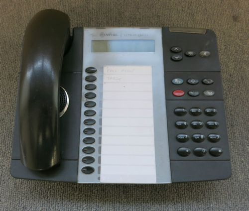 Mitel 5212 50004890 12 programmable keys Dual Mode IP VoIP Phone No Staad Black